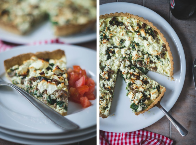 quiche mit hackfleisch spinat und feta bake it. Black Bedroom Furniture Sets. Home Design Ideas